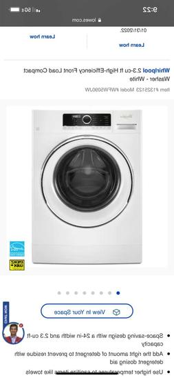 Whirlpool 2.3-cu ft High-Efficiency Front Load Compact Washe