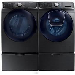 Bundle: Black Stainless Steel Samsung 5 Cu Ft Front Load Was