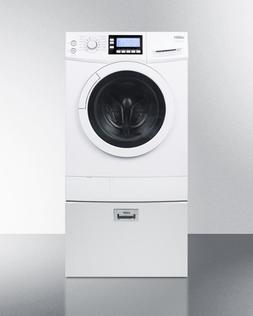 Summit Combo Washer Dryer Ventless 120 Volt With Pedestal Dr