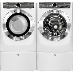 Electrolux Front Load Washer and Electric Dryer Set with Ped