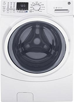"""GE White Front Load Laundry Pair with GFW450SSKWW 27"""" Washer"""