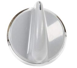 Washer Knob for GE 175D3296, 175D3296P001 White Silver Knob
