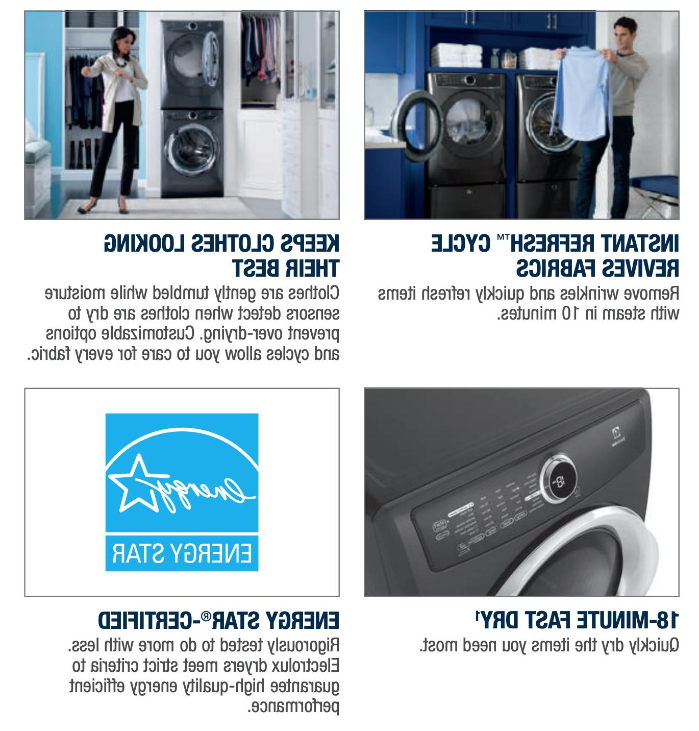 ELECTROLUX 4.3 Load Washer & 8.0 Electric Dryer