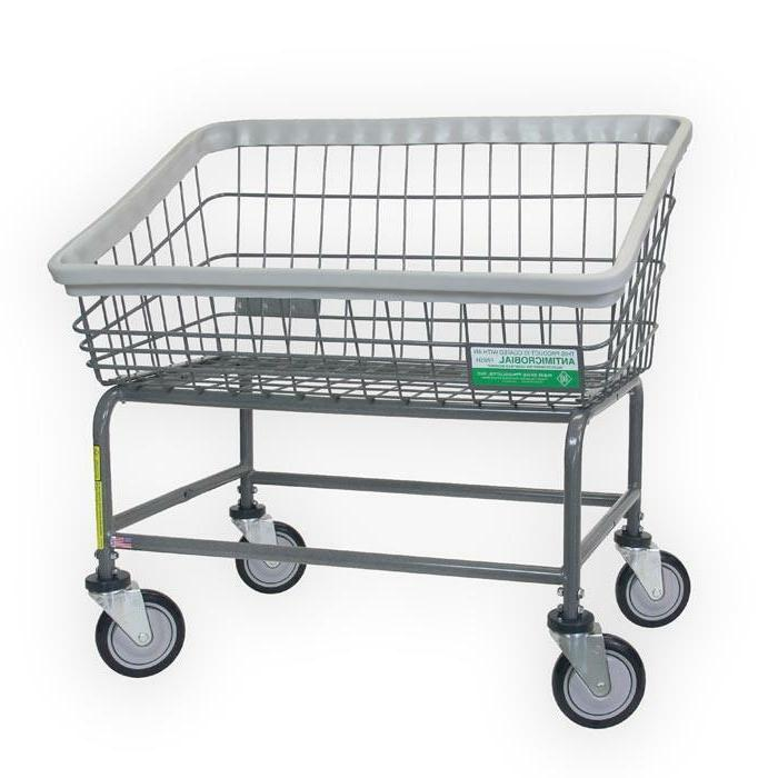 Antimicrobial Large Capacity Front Load Laundry Cart 200SANT