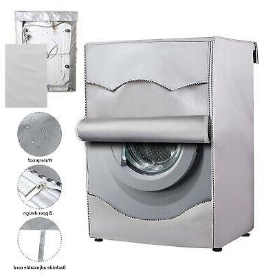 silver washing machine cover waterproof washer cover
