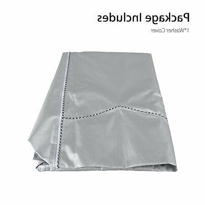 Silver Washing Waterproof washer Cover Front