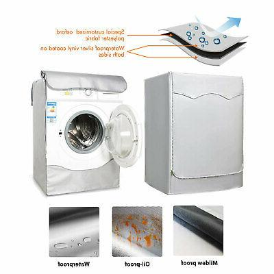 Silver Waterproof Cover for Front Load Washer/Dryer