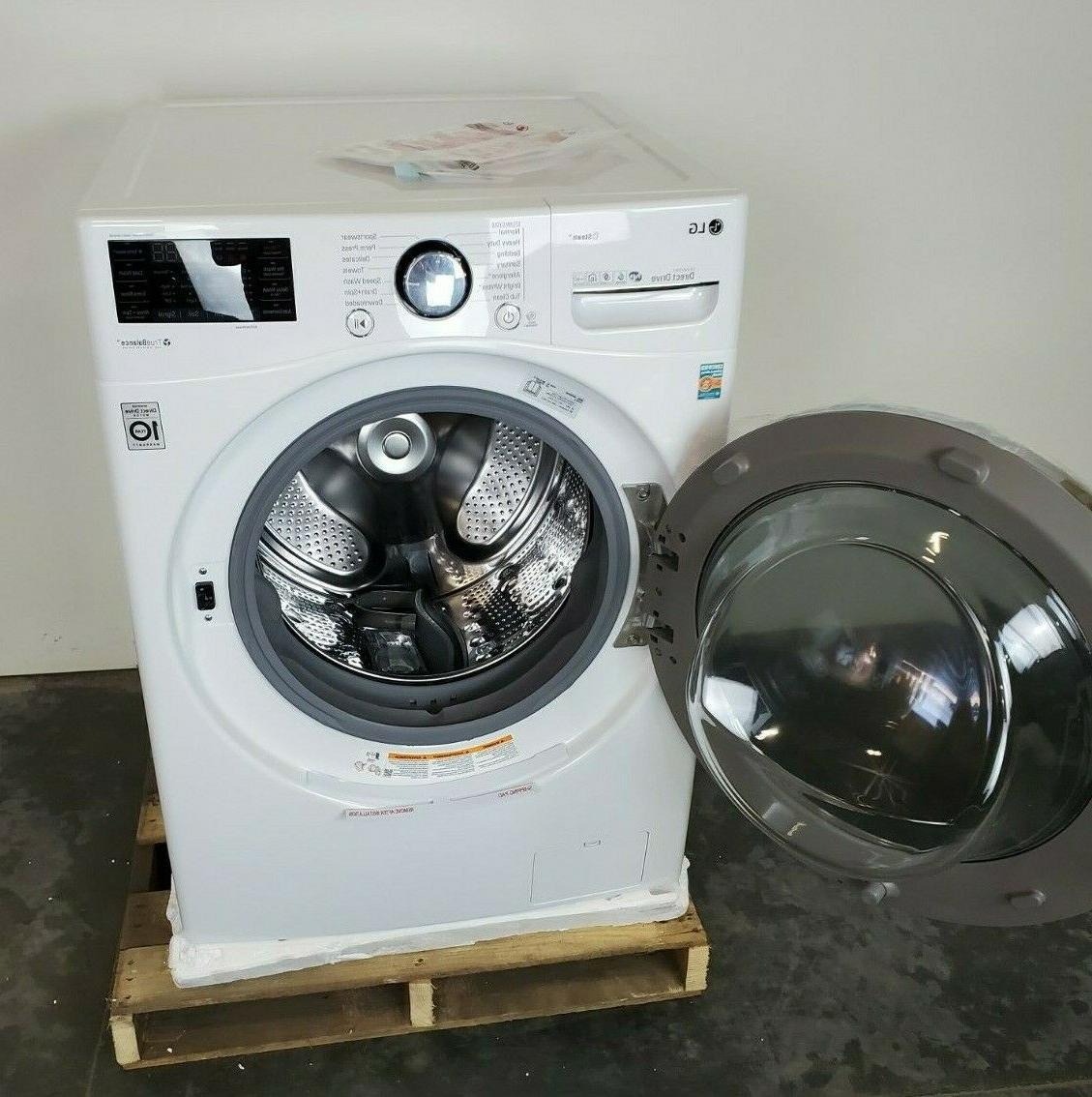 LG WM3900HWA Front Washer Steam and White
