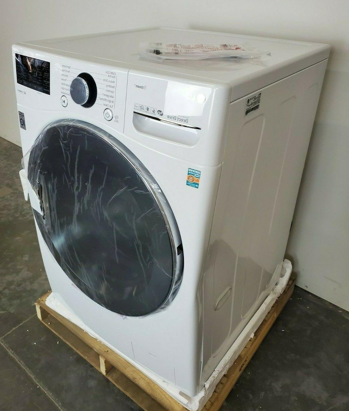 LG 27 Inch Front Load Washer Steam White
