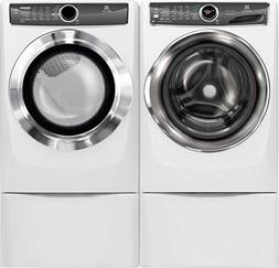 """Electrolux White Front Load Laundry Pair with EFLS627UIW 27"""""""