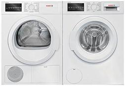 White Front Load Laundry Pair with WAT28400UC 24 Washer and