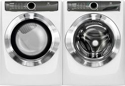 """Electrolux White Front Load Laundry Pair with EFLS617SIW 27"""""""