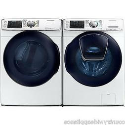 Samsung White Front Load Washer and Gas Dryer WF50K7500AW an